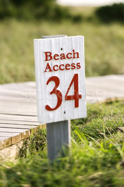 Beach access on Bald Head Island. Stock photo © iofoto