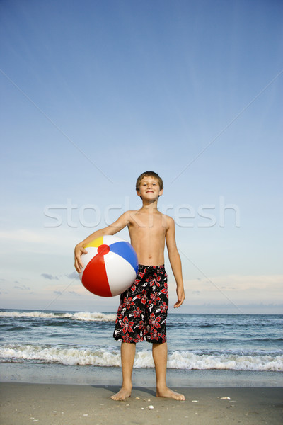 Ragazzo spiaggia viaggio Foto d'archivio © iofoto