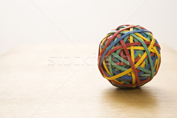 Elástico bola natureza morta colorido negócio cor Foto stock © iofoto