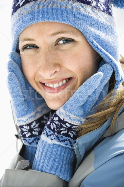 Attractive smiling woman. Stock photo © iofoto
