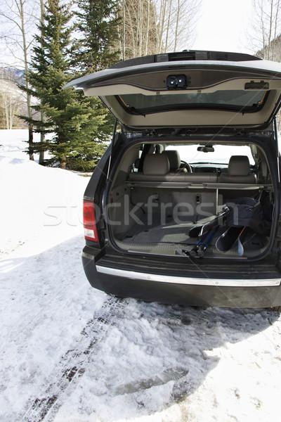 SUV with ski equipment. Stock photo © iofoto
