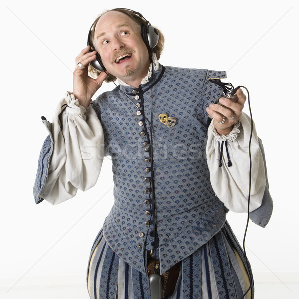 Shakespeare listening to headphones. Stock photo © iofoto