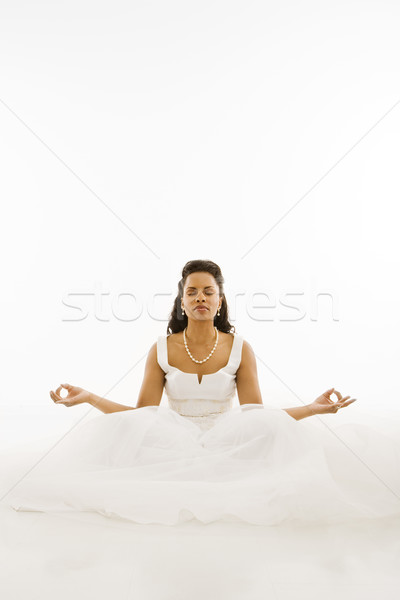 Meditating bride. Stock photo © iofoto