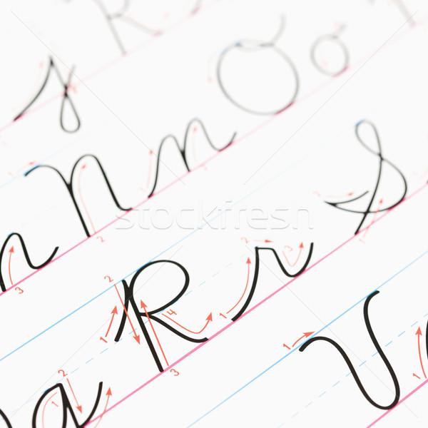 手書き 練習 紙 通信 ストックフォト © iofoto