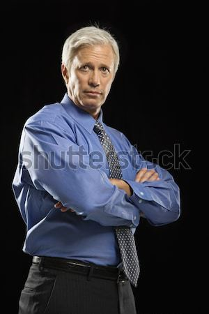 Stern businessman. Stock photo © iofoto