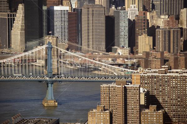 マンハッタン 橋 ニューヨーク 建物 眼 ストックフォト © iofoto