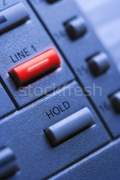 Telephone with Lit Line One Button Stock photo © iofoto