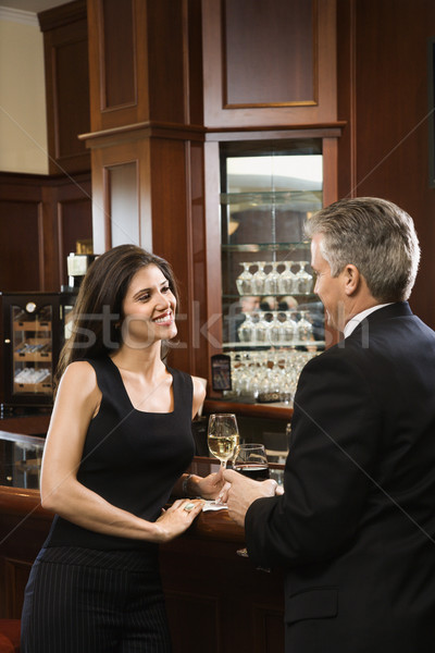 Man and woman at bar. Stock photo © iofoto