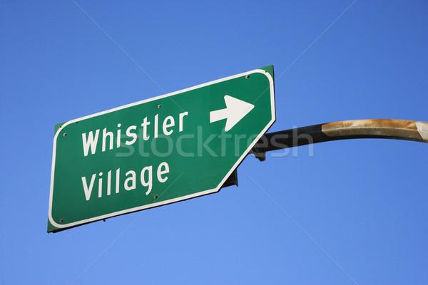 Sign for Whistler Village. Stock photo © iofoto
