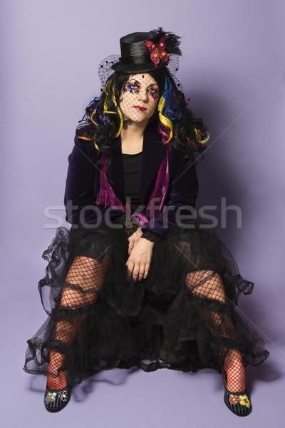Portre goth kafkas kadın Stok fotoğraf © iofoto