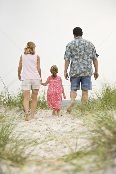 Family walking toward beach. Stock photo © iofoto