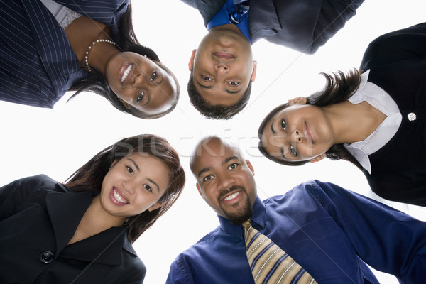 Stock photo: Businesspeople group.