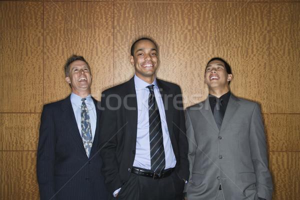 ビジネスマン 笑みを浮かべて 笑い 民族の多様性 立って 一緒に ストックフォト © iofoto