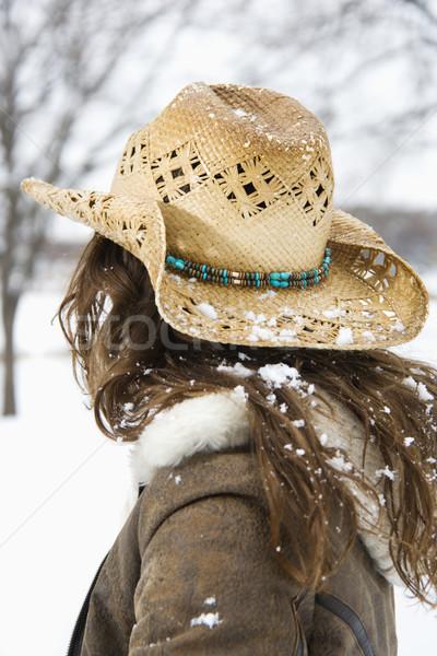 Woman in cowboy hat. Stock photo © iofoto