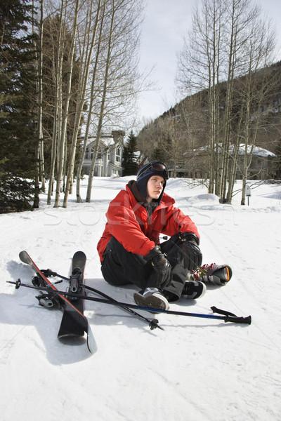 Teenager with ski gear. Stock photo © iofoto