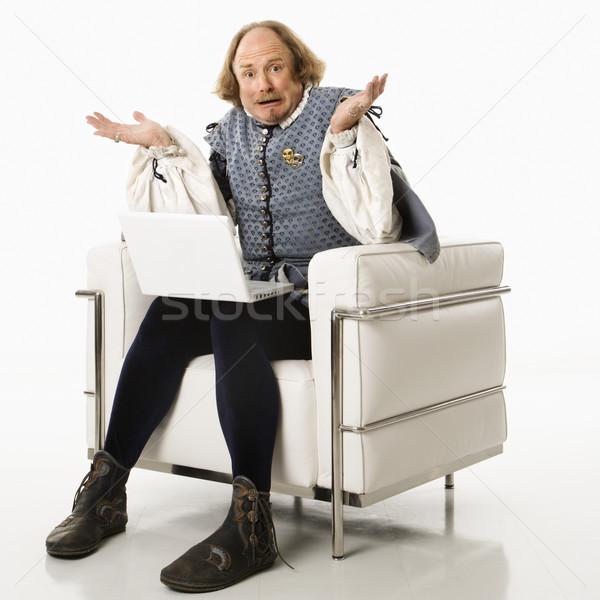 Shakespeare using laptop. Stock photo © iofoto