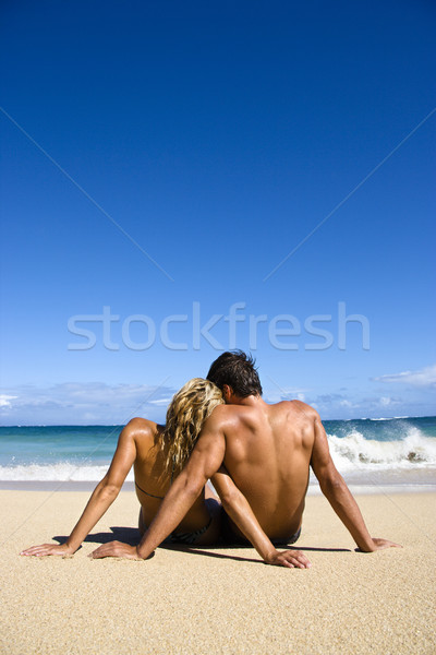 Couple on beach. Stock photo © iofoto