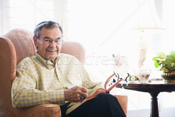 Mature man reading. Stock photo © iofoto