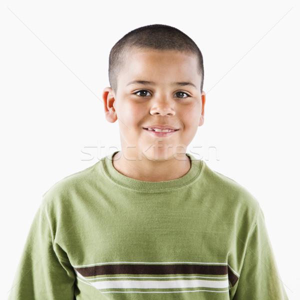 Mosolyog fiatal spanyol fiú kamasz áll Stock fotó © iofoto