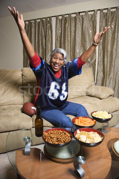 Woman sport fan. Stock photo © iofoto
