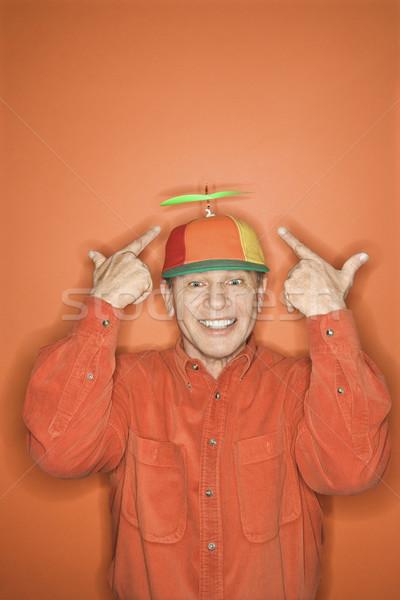 Man wearing silly hat. Stock photo © iofoto