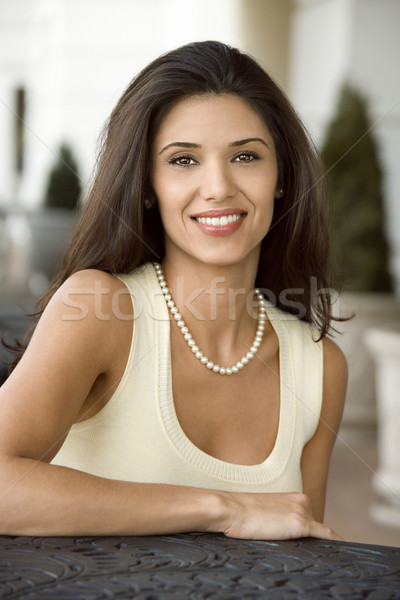 Portrait of pretty woman. Stock photo © iofoto
