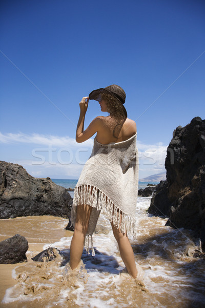 Sexy young woman on beach. Stock photo © iofoto
