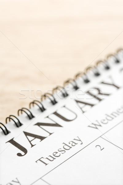 Stock photo: January on calendar.