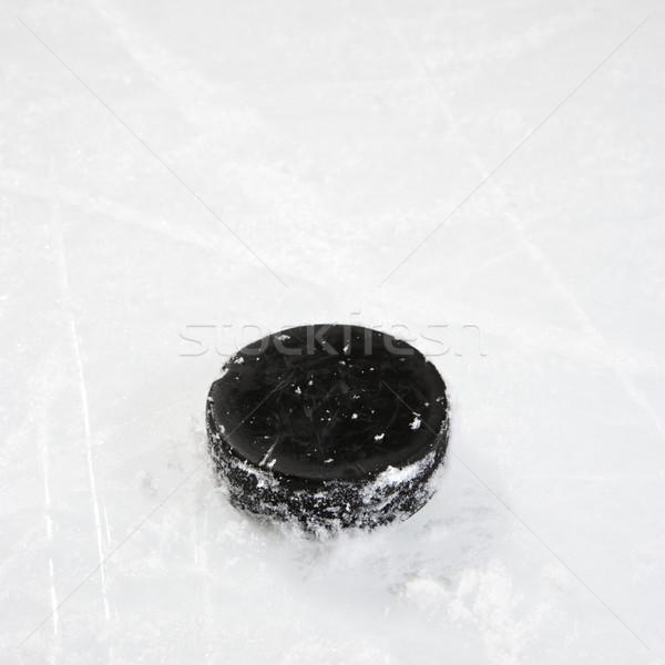 Hokey buz siyah plastik disk Stok fotoğraf © iofoto