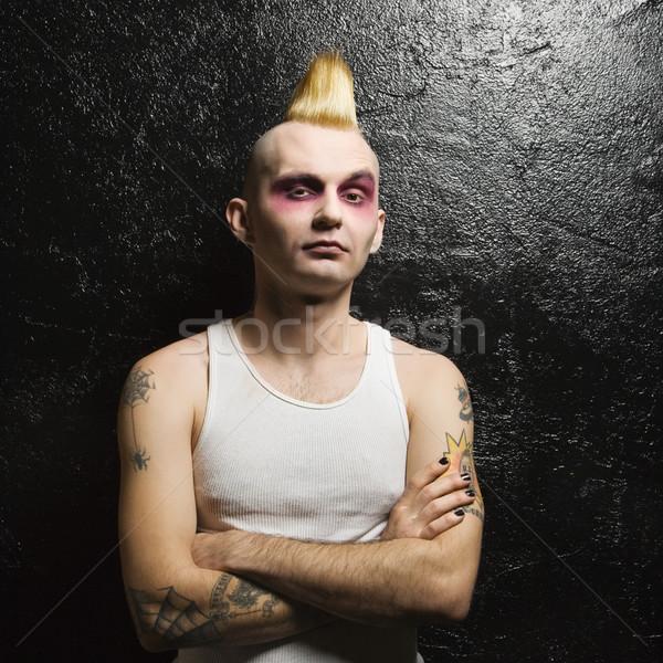 Portret mężczyzna punk człowiek Zdjęcia stock © iofoto