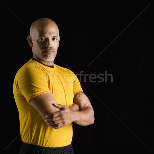 Man in excercise clothing. Stock photo © iofoto
