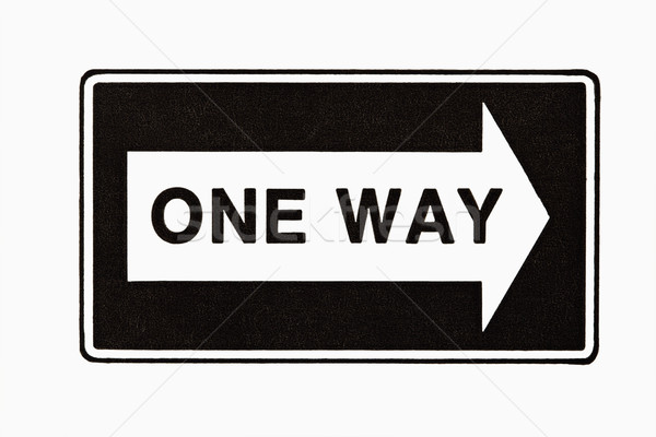 One way sign. Stock photo © iofoto