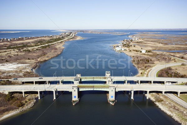 Bridge over waterway. Stock photo © iofoto