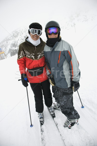 Mom and son at ski slope. Stock photo © iofoto
