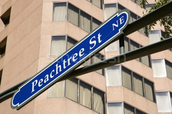 Straat teken verkeersbord centrum atlanta Georgië stedelijke Stockfoto © iofoto