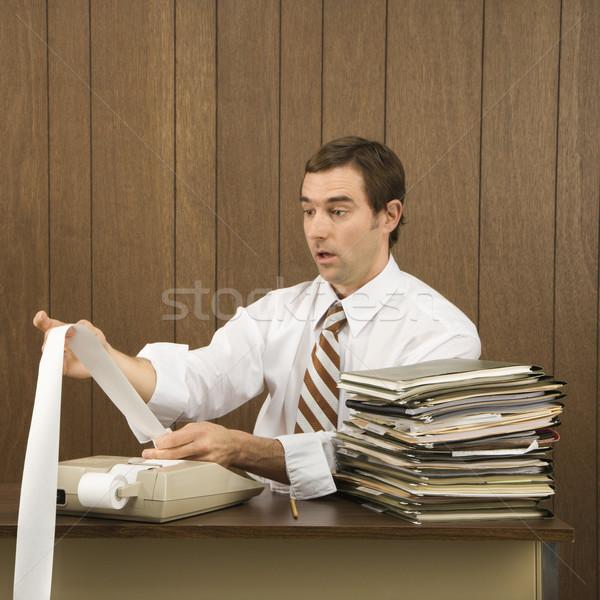Man doing office work. Stock photo © iofoto