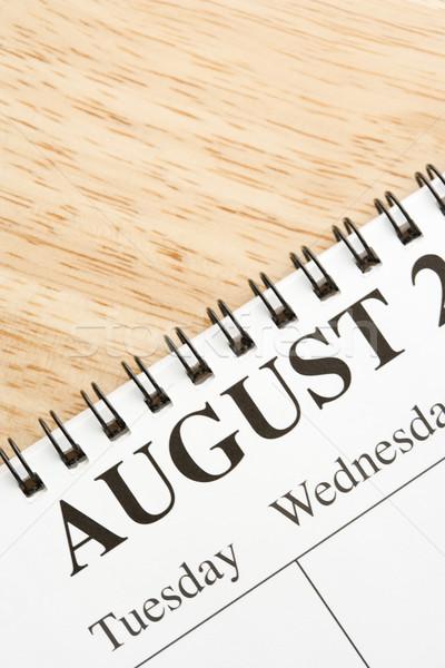 август календаря спиральных месяц бизнеса Сток-фото © iofoto