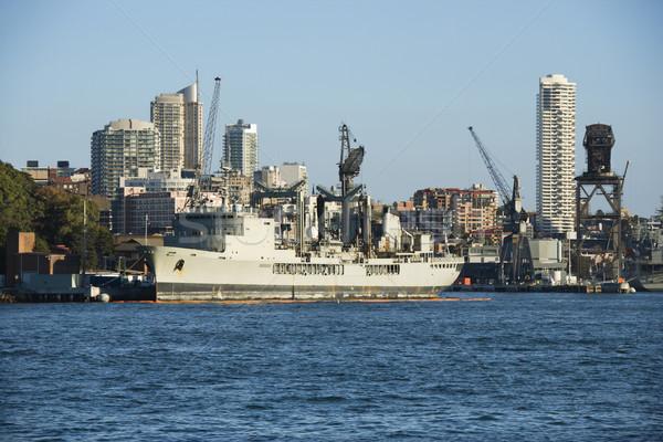 Stockfoto: Schip · Sydney · Australië · haven · gebouwen