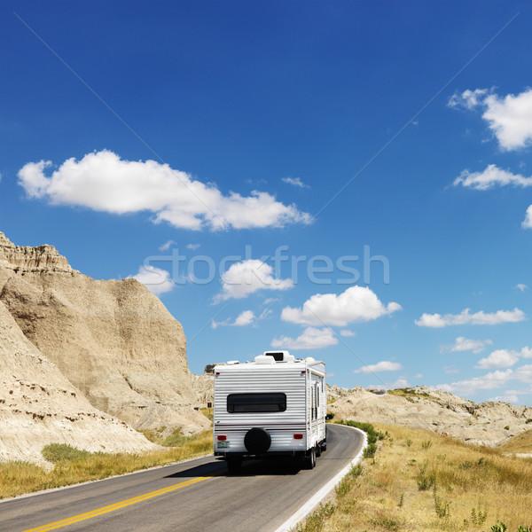 Camper on scenic road. Stock photo © iofoto