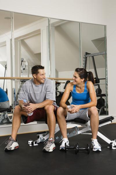 Socializing at gym Stock photo © iofoto