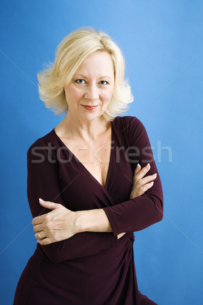 Mulher de negócios estúdio retrato atraente adulto empresária Foto stock © iofoto