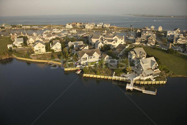 Homes on coast. Stock photo © iofoto