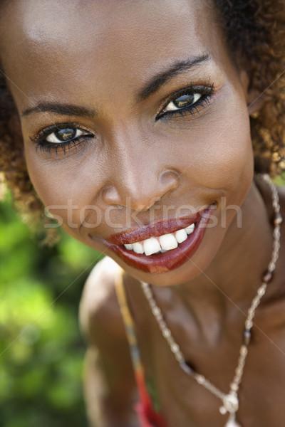 肖像 笑顔の女性 アフリカ系アメリカ人 女性 笑みを浮かべて ストックフォト © iofoto