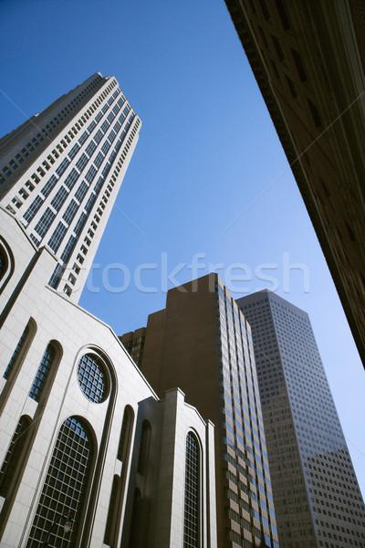 Lang gebouwen centrum atlanta Stockfoto © iofoto