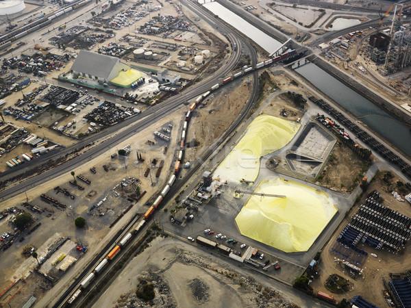 Industriële antenne luchtfoto opslag faciliteit Los Angeles Stockfoto © iofoto