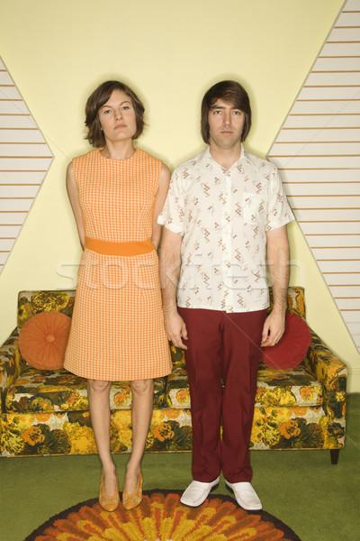 Retro couple. Stock photo © iofoto