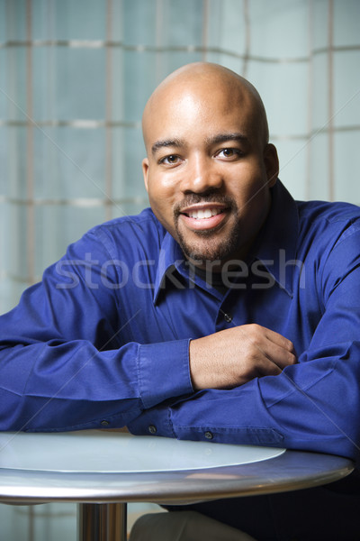 Portrait of Smiling African-American Man Stock photo © iofoto