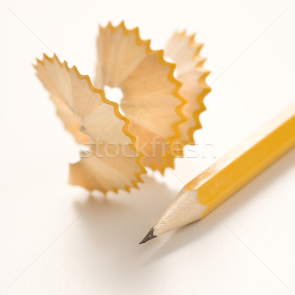 Pencil and shavings. Stock photo © iofoto