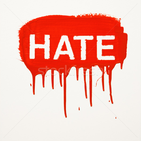 Hate painted on wall. Stock photo © iofoto