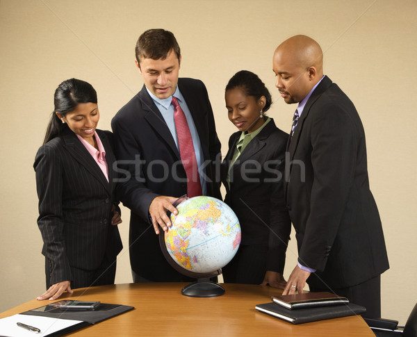 Stockfoto: Wereldbol · corporate · permanente · rond · wereld